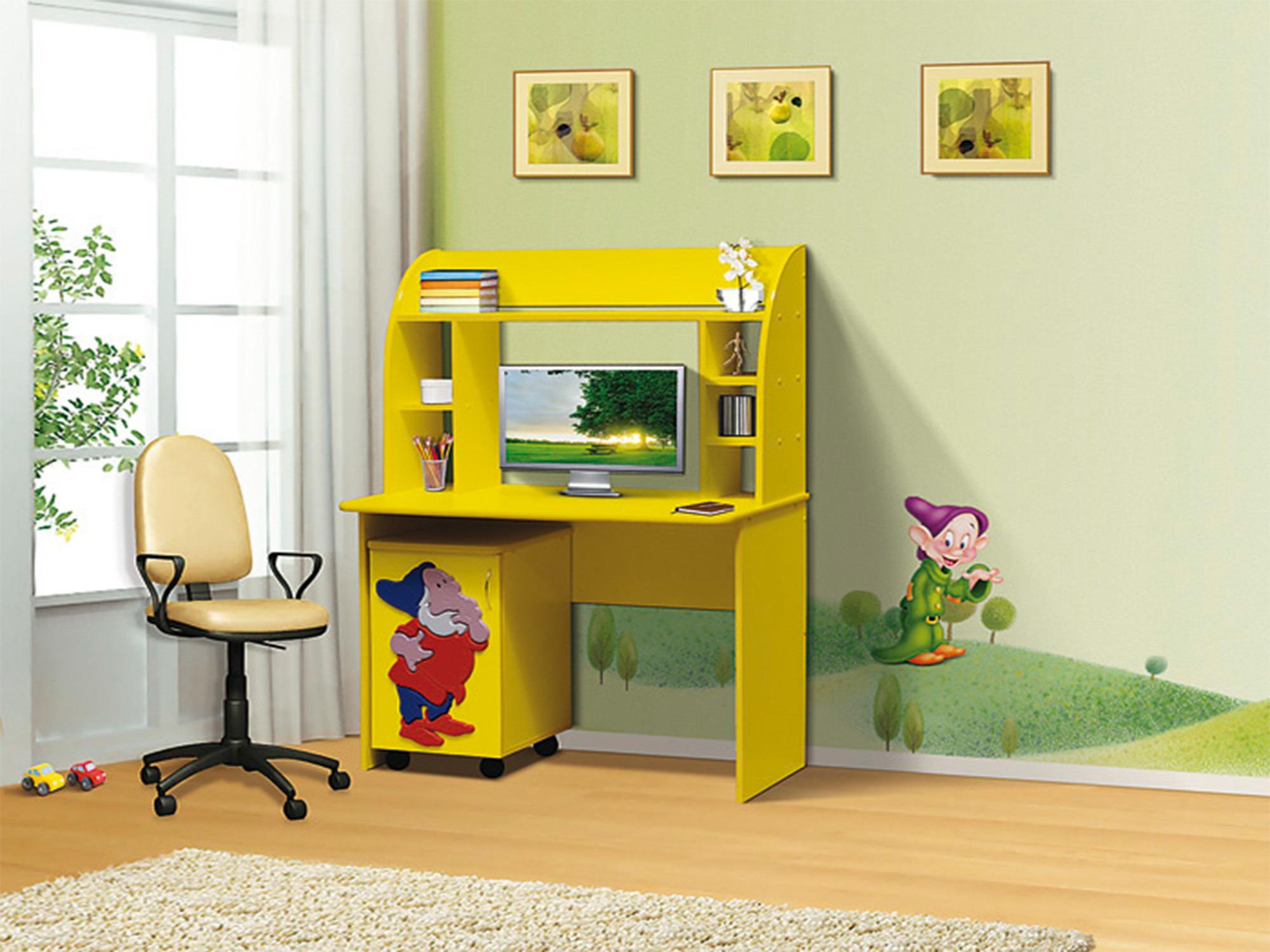 Стол письменный тумба ГномПисьменные столы<br><br><br>Длина мм: 1025<br>Высота мм: 1375<br>Глубина мм: 505