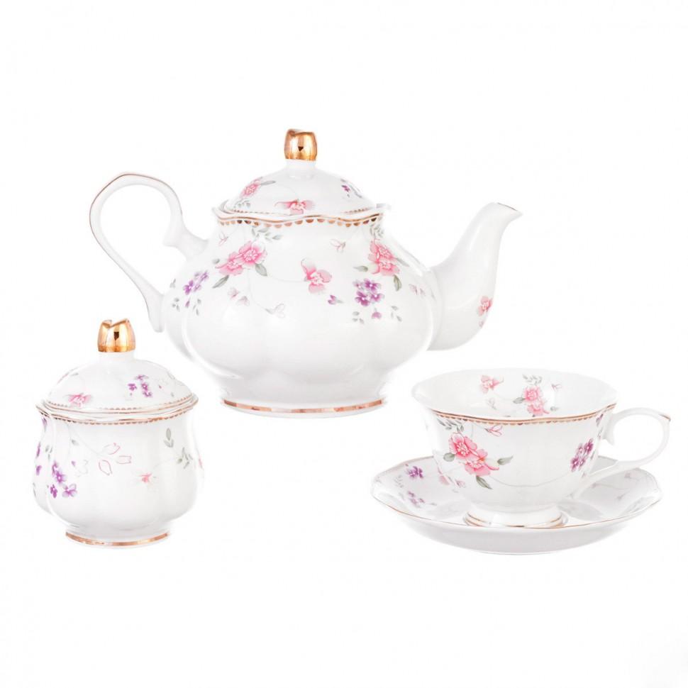 Сервиз чайный фарфоровый на 6 персон 220 мл Royal Classics 14 предметов сервиз чайный из фарфора 12 предметов лаура 84 670