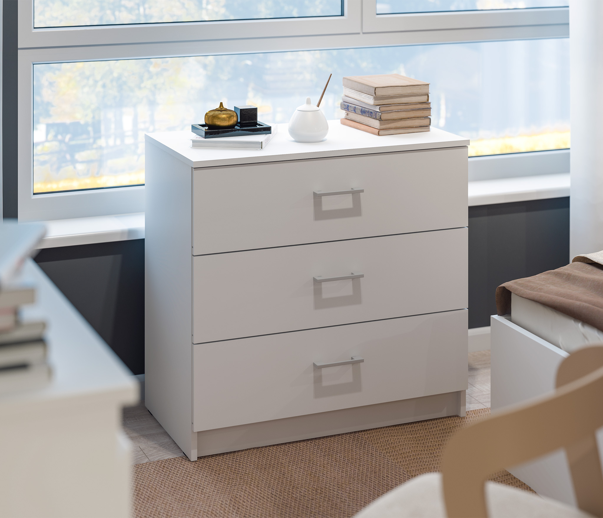 Терра СБ-2228/2 Комод Белый тахты с ящиками для хранения
