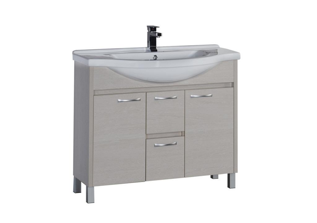 Тумба Aquanet Донна 100Тумбы с раковиной для ванны<br><br><br>Длина мм: 0<br>Высота мм: 0<br>Глубина мм: 0<br>Цвет: Белый дуб