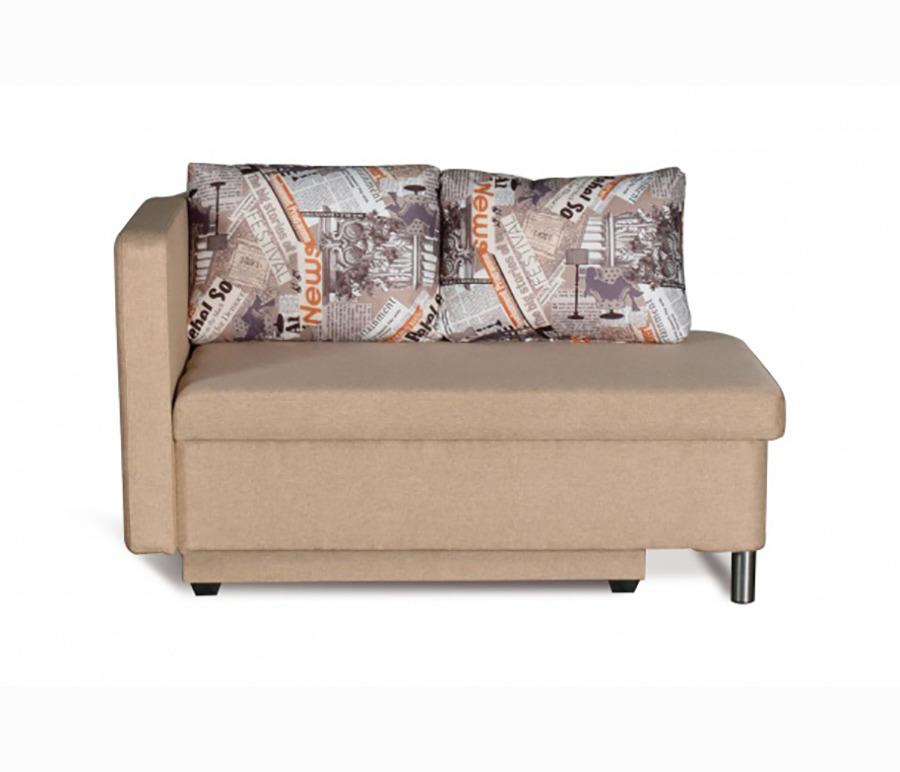 Кушетка Эмма леваяМягкая мебель<br>«Эмма» - это очаровательный диванчик с двумя подушками, в котором сочетаются компактность и функциональность. При необходимости подлокотник дивана откидывается, превращая его в односпальную кровать. В нижней части находится вместительный ящик для постельных принадлежностей. Рекомендуем модель для детской комнаты, кухни, закрытой лоджии, прихожей, а также в качестве запасного спального места.При заказе нужно обратить внимание на расположение откидывающегося подлокотника так как у дивана угол может быть или правым или только левым.Механизм трансформации - ЕврокнижкаЯщик для белья - ЕстьДлина изделия132 см.Высота изделия85 см.Глубина изделия74 см.Глубина спального места70 см.Длина спального места185 см.<br><br>Длина мм: 0<br>Высота мм: 0<br>Глубина мм: 0<br>Материал: Ткань<br>Механизм: Еврокнижка<br>Бельевой ящик: Ящик для белья<br>Мягкая мебель: Кушетка<br>Назначение: Для детской<br>Категория: Cтандарт