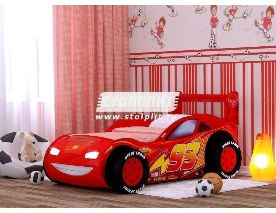 Кровать Молния 3ДДетские кровати<br><br><br>Длина мм: 780<br>Высота мм: 650<br>Глубина мм: 1760