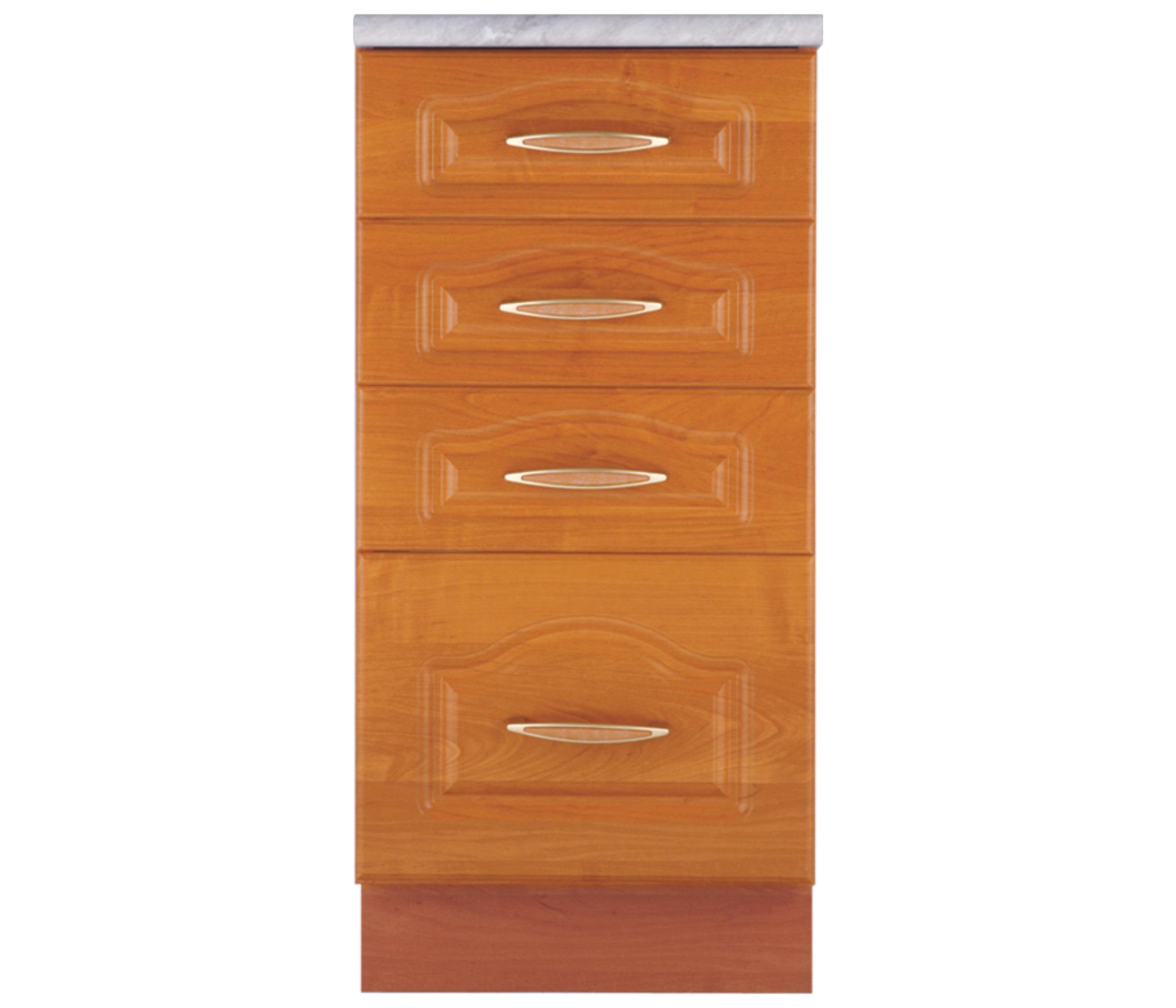 Оля В4 Шкаф-Стол с 4-мя ящикамиМебель для кухни<br>Кухонный шкаф с четырьмя ящиками. Дополнительно рекомендуем приобрести столешницу.