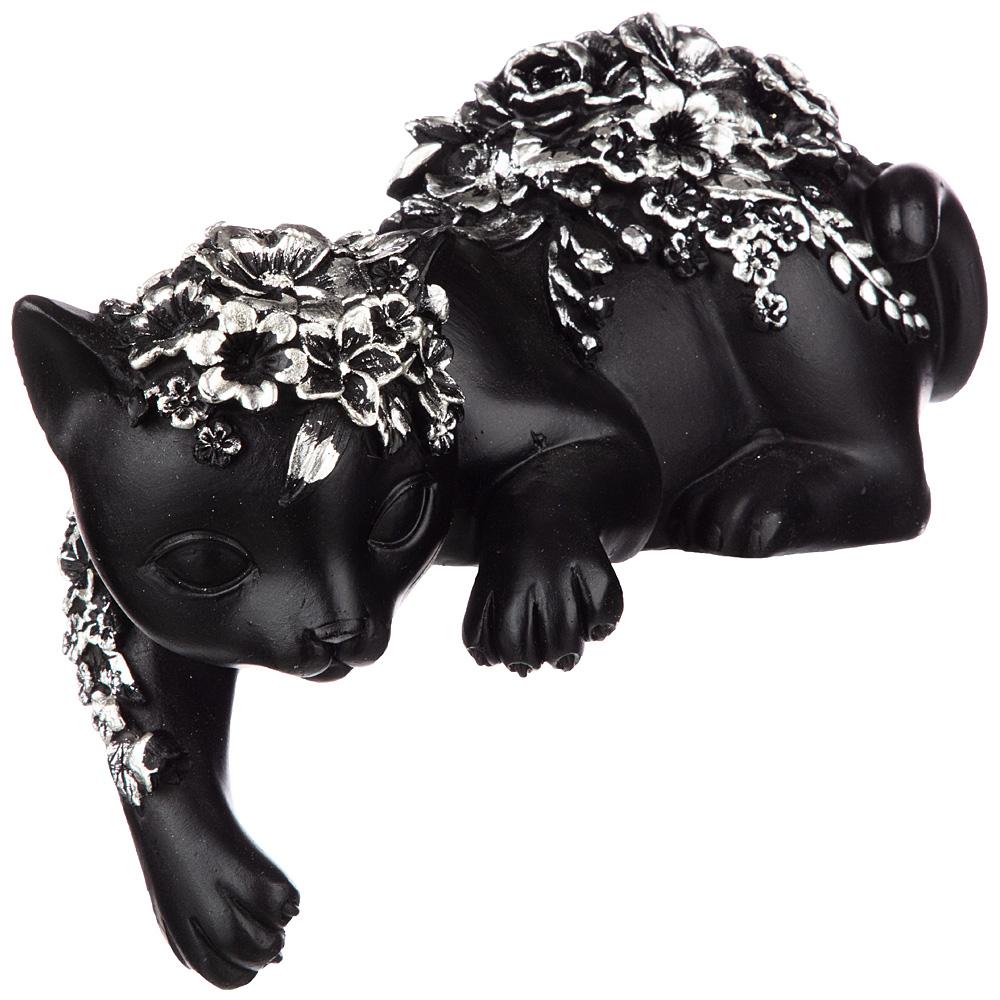 Фото - статуэтка кошка 20х10.5х17 см коллекция flower fantasy knot side surplice wrap flower print dress