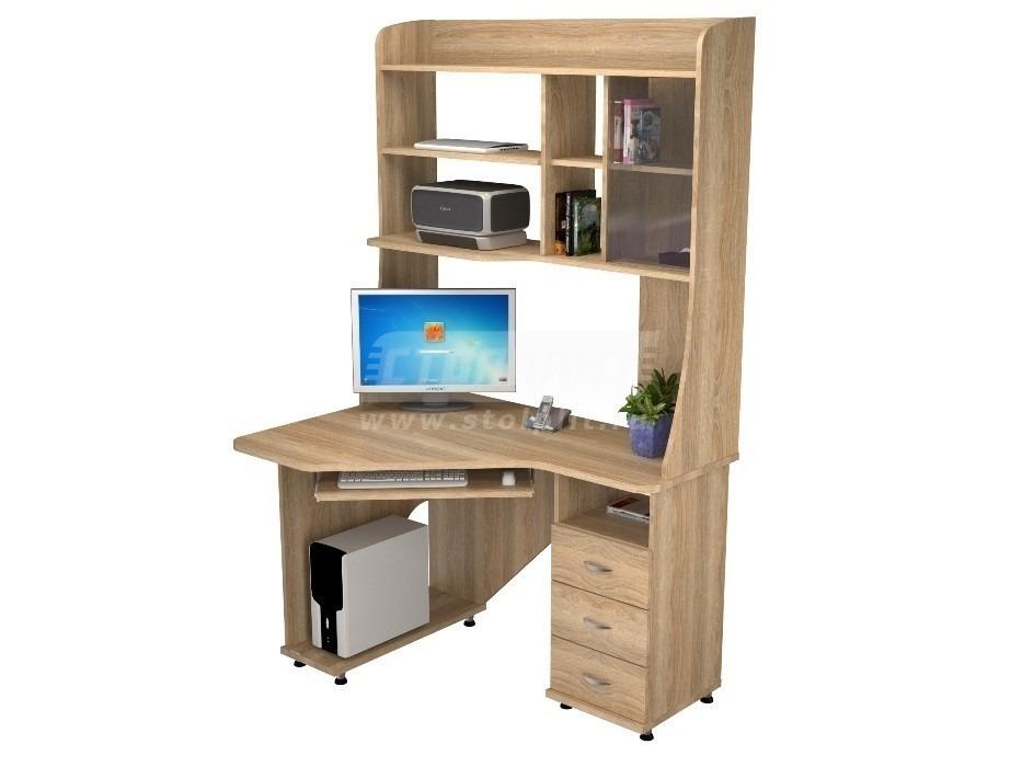 Стол компьютерный КС 2029м1Компьютерные столы<br><br><br>Длина мм: 1200<br>Высота мм: 1970<br>Глубина мм: 890