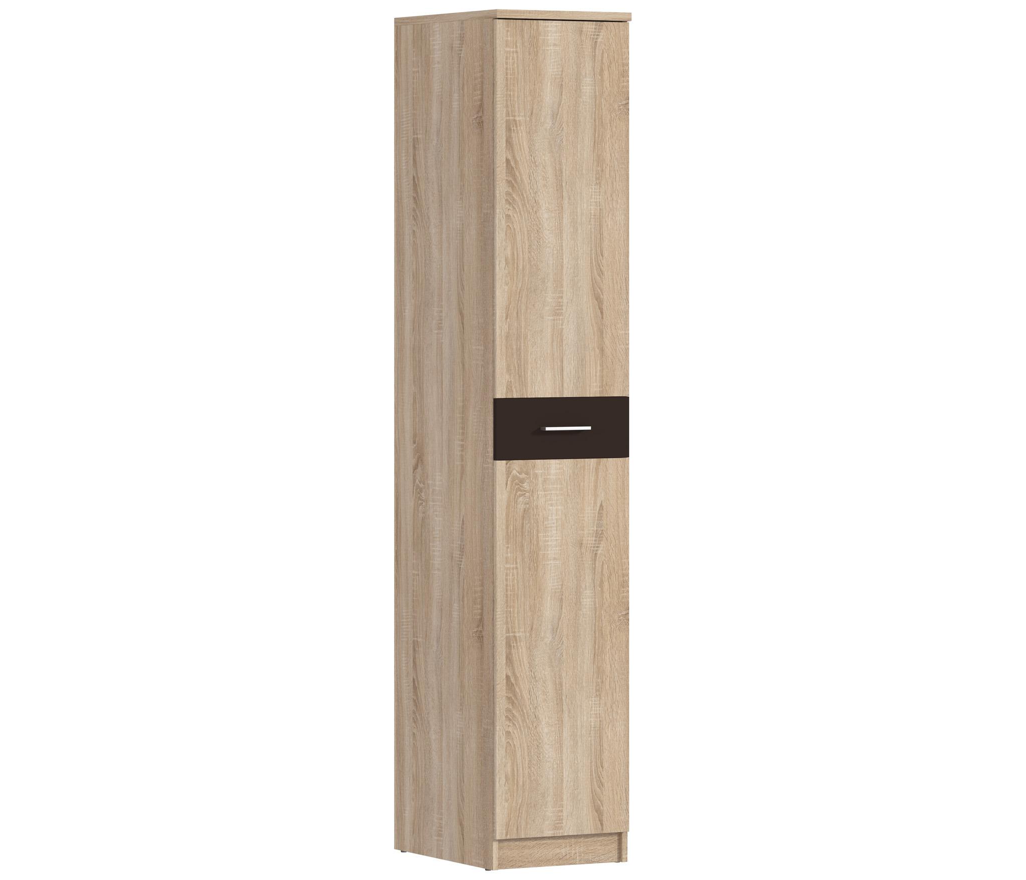 Клео СБ-2009 Шкаф 1-о дверныйШкафы<br>Компактный шкаф с единой дверью и сдержанным фасадом послужит дополнительной системой хранения, максимально сохраняя пространство комнаты.<br><br>Длина мм: 400<br>Высота мм: 2226<br>Глубина мм: 579