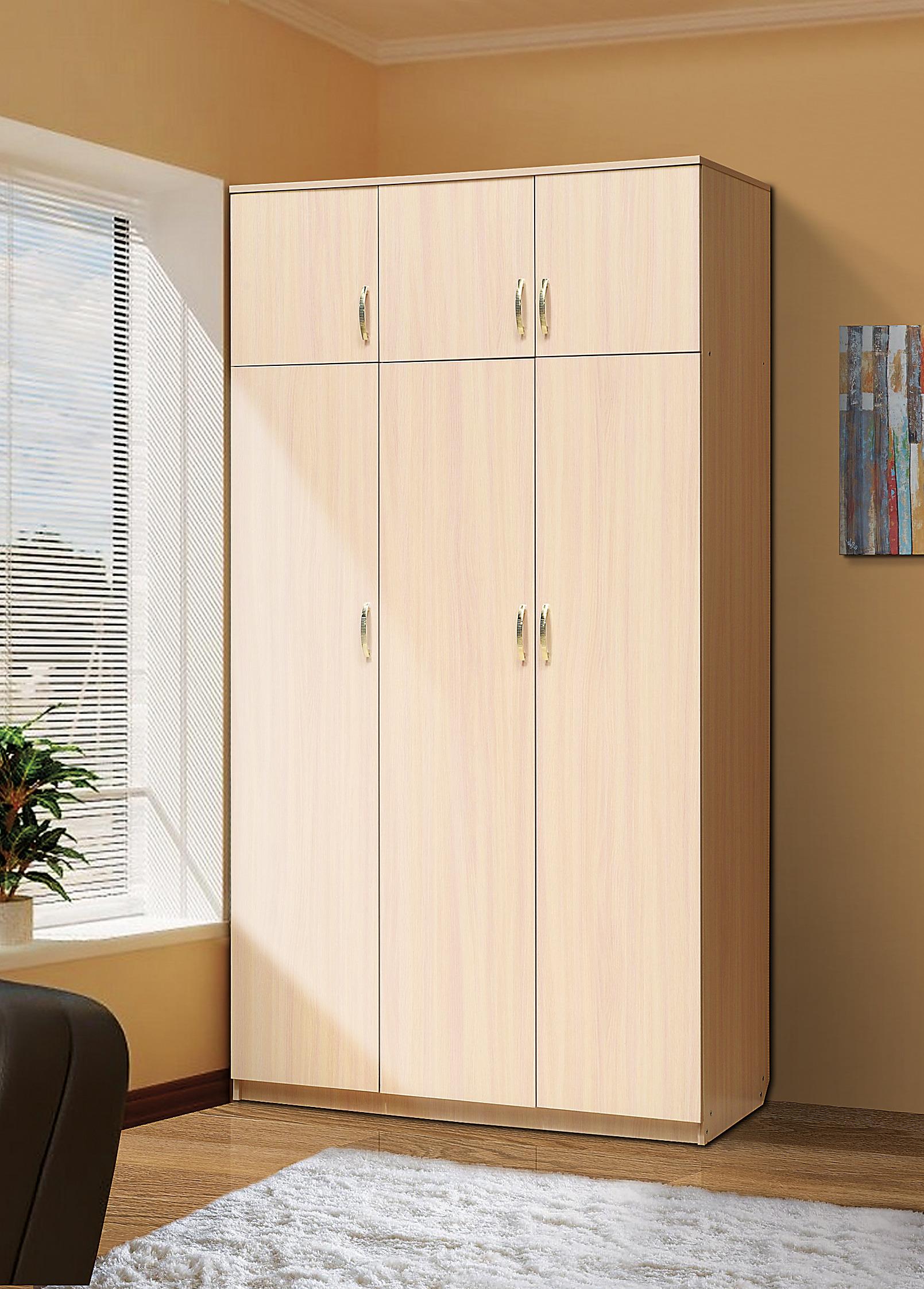 Шкаф 3-х  ств  антресольюШкафы<br><br><br>Длина мм: 1200<br>Высота мм: 2116<br>Глубина мм: 520