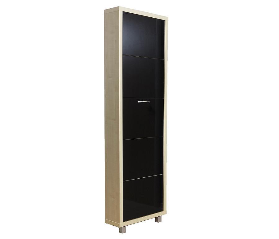 Шкаф обувной люкс стекло черное 5СОбувницы<br><br><br>Длина мм: 545<br>Высота мм: 1740<br>Глубина мм: 190<br>Цвет: Клён