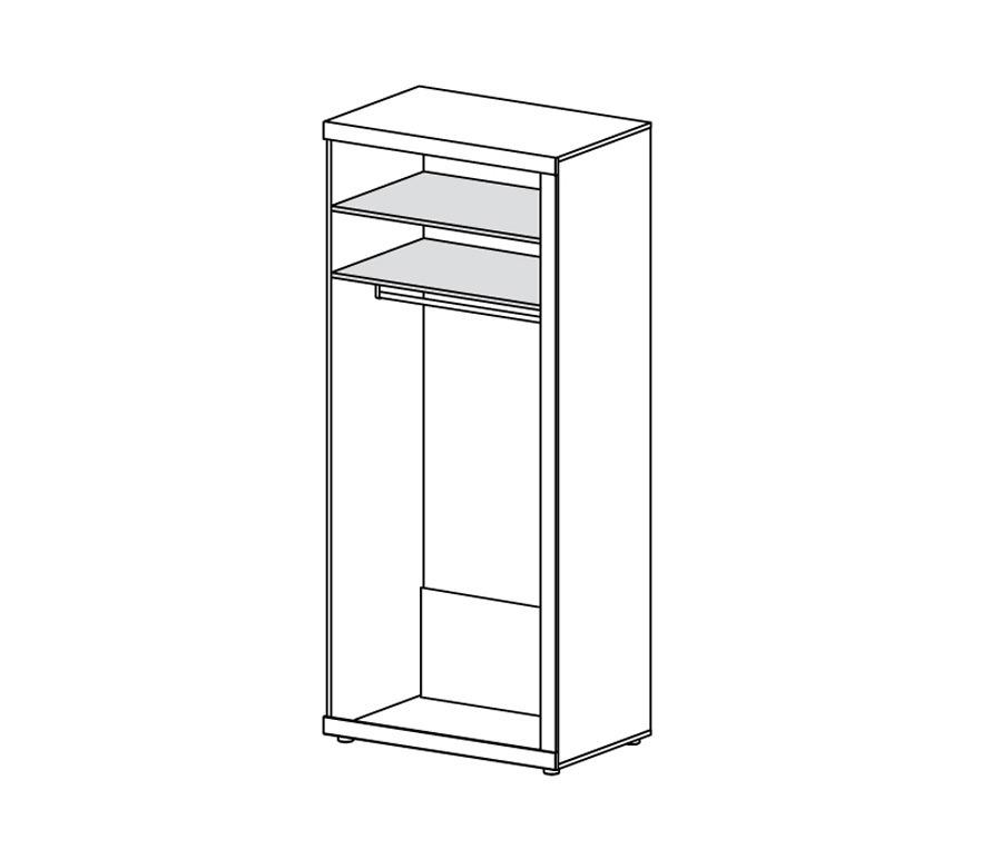 Марсель СБ-1067 Шкаф для одежды от Столплит