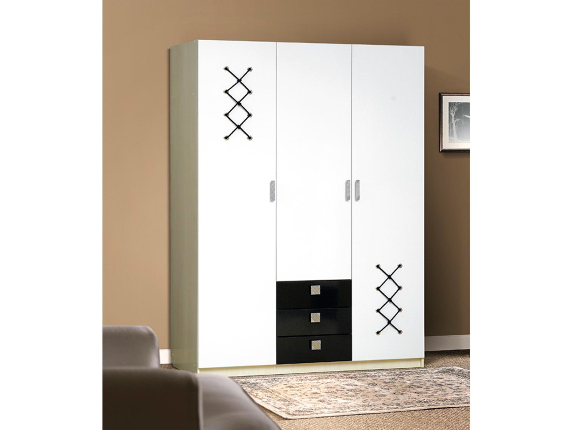Шкаф с ящиками 3 створчатый МорячкаДетская<br><br><br>Длина мм: 1500<br>Высота мм: 2200<br>Глубина мм: 580