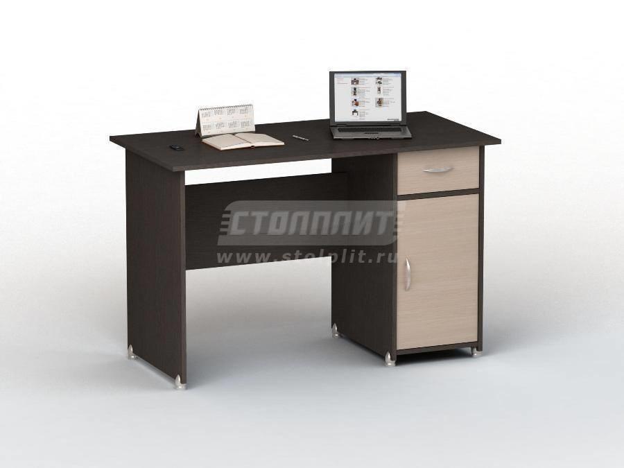 Стол письменный ПС 4008 м1Письменные столы<br><br><br>Длина мм: 1200<br>Высота мм: 770<br>Глубина мм: 600