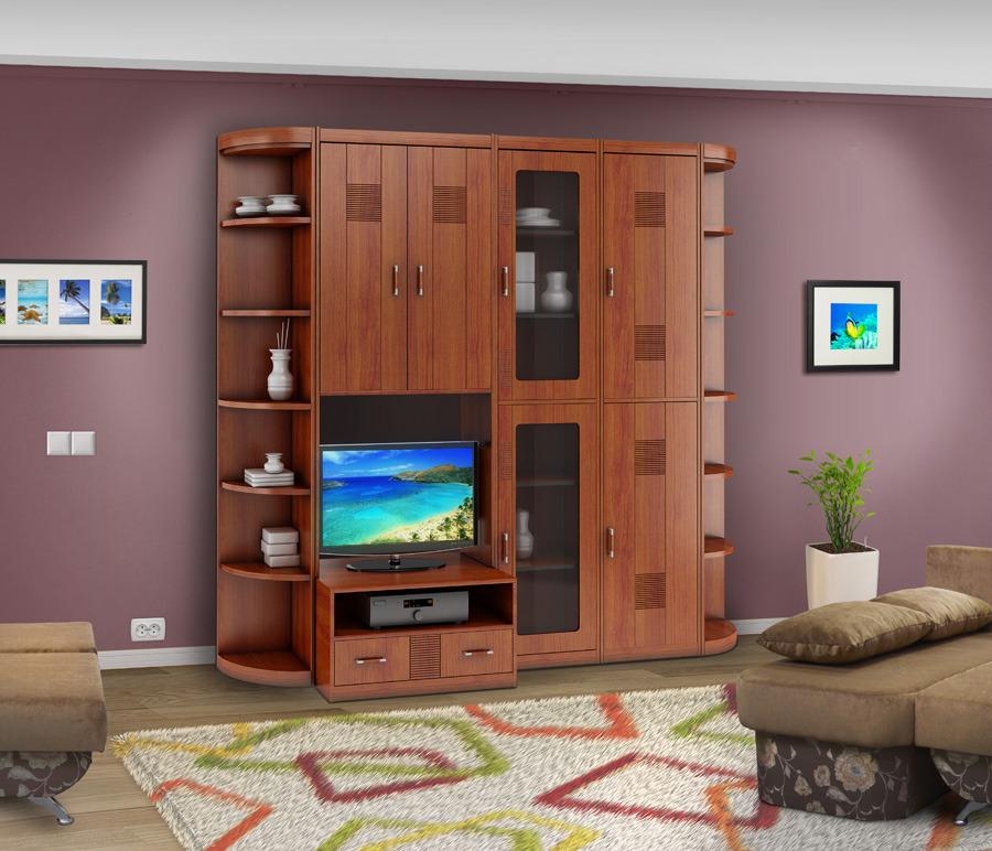 Сити Гостиная Вишня АркадияСтенки для гостиной<br>Сити Гостиная Вишня Аркадия для тех, кто имеет хороший вкус и особенно ценит многофункциональность, практичность, вместительность и красивый внешний вид мебели для гостиных.<br><br>Длина мм: 2490<br>Высота мм: 2218<br>Глубина мм: 349