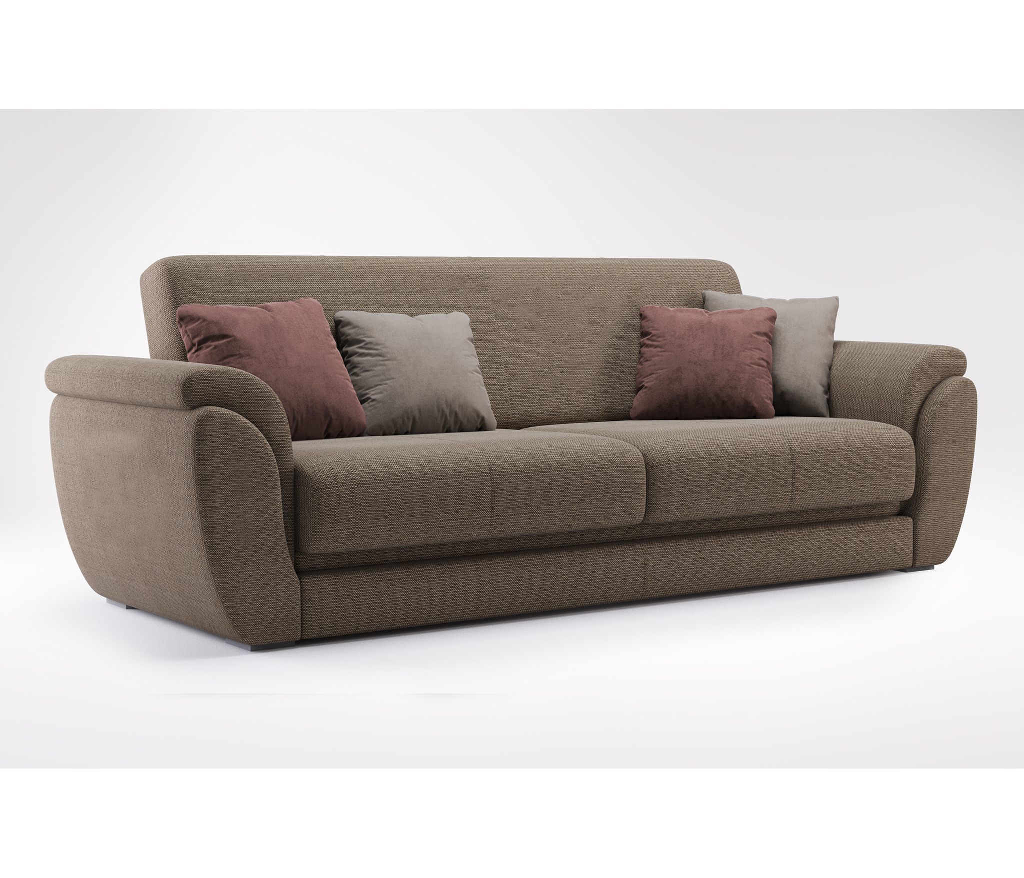 Диван-кровать БлиссМягкая мебель<br><br><br>Длина мм: 2500<br>Высота мм: 980<br>Глубина мм: 1000
