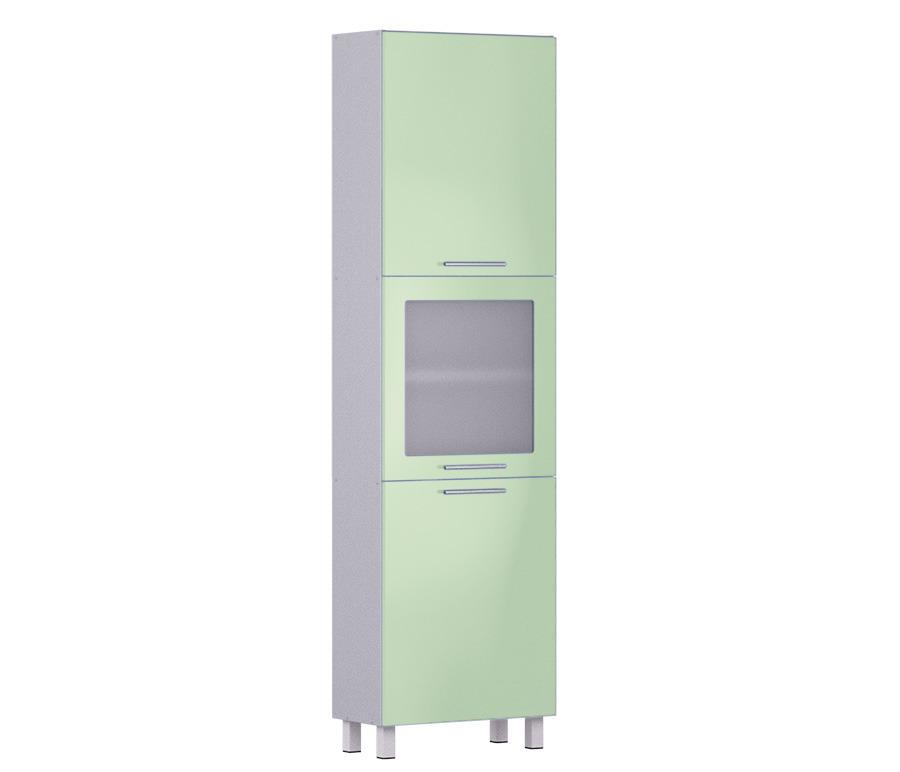 Анна пенал АП-560 с витринойМебель для кухни<br><br><br>Длина мм: 600<br>Высота мм: 2136<br>Глубина мм: 289