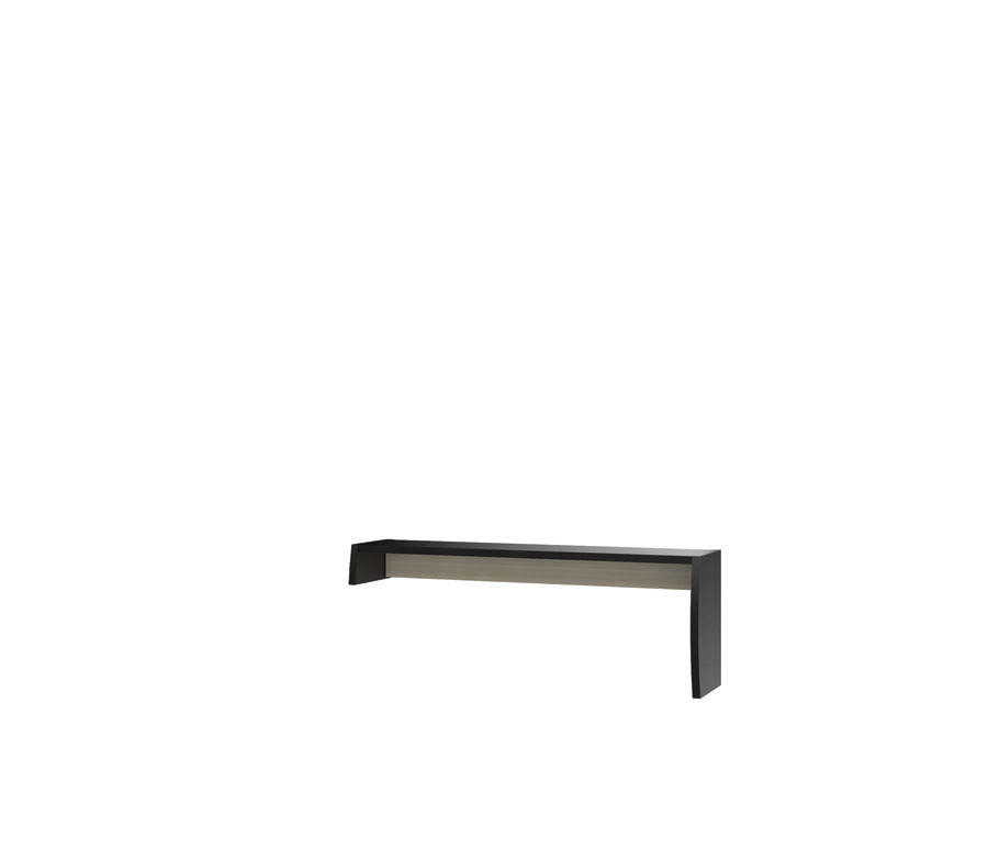 Ксено СТЛ.078.13 Надстройка правая для тумбы под TVГостиная<br><br><br>Длина мм: 1530<br>Высота мм: 550<br>Глубина мм: 352