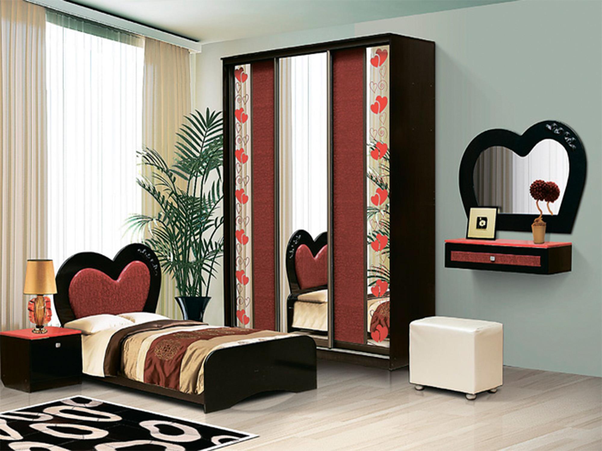 Спальный набор КокеткаДетские комнаты<br><br><br>Длина мм: 4795<br>Высота мм: 2350<br>Глубина мм: 950
