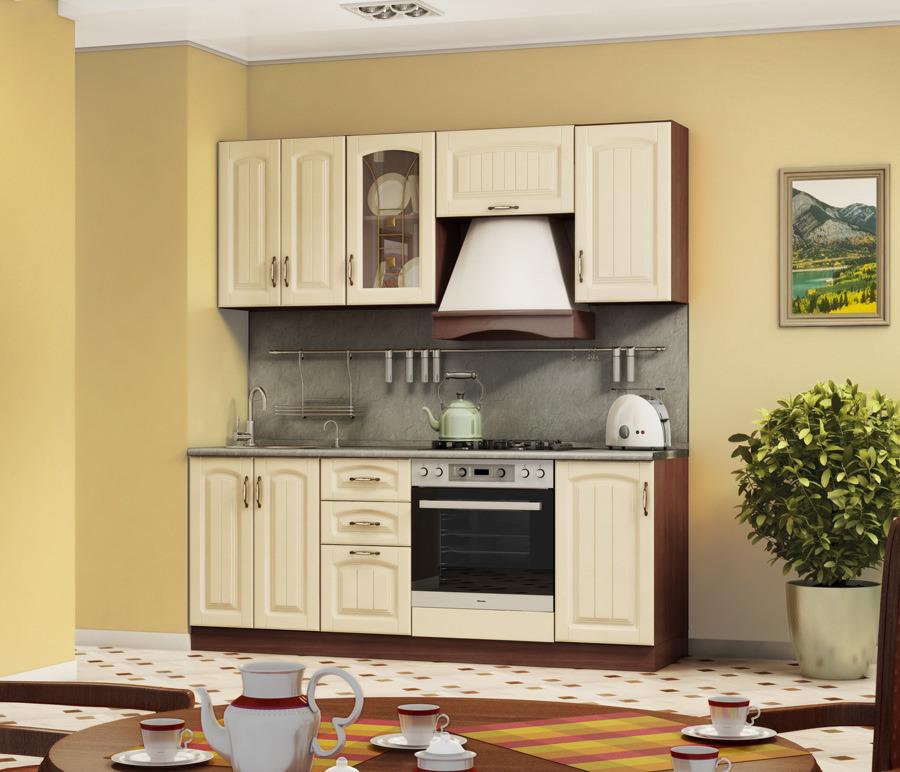 Кухонный гарнитур Регина (Бежевый)Кухонные гарнитуры<br><br><br>Длина мм: 2000<br>Высота мм: 820<br>Глубина мм: 600