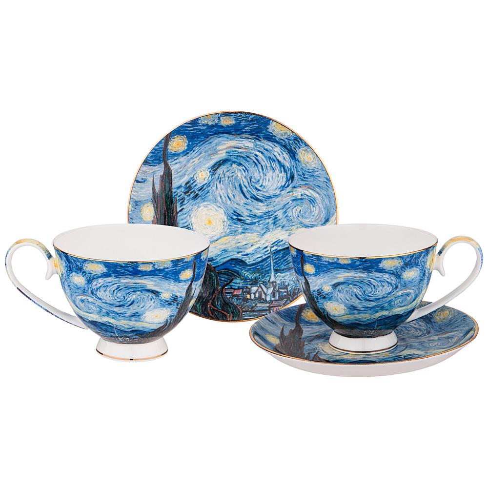 Фото - Чайный набор звездная ночь (В.Ван Гог) 4 пр. 250мл Lefard сервиз чайный из фарфора звездная ночь 2 предмета 104 649 lefard