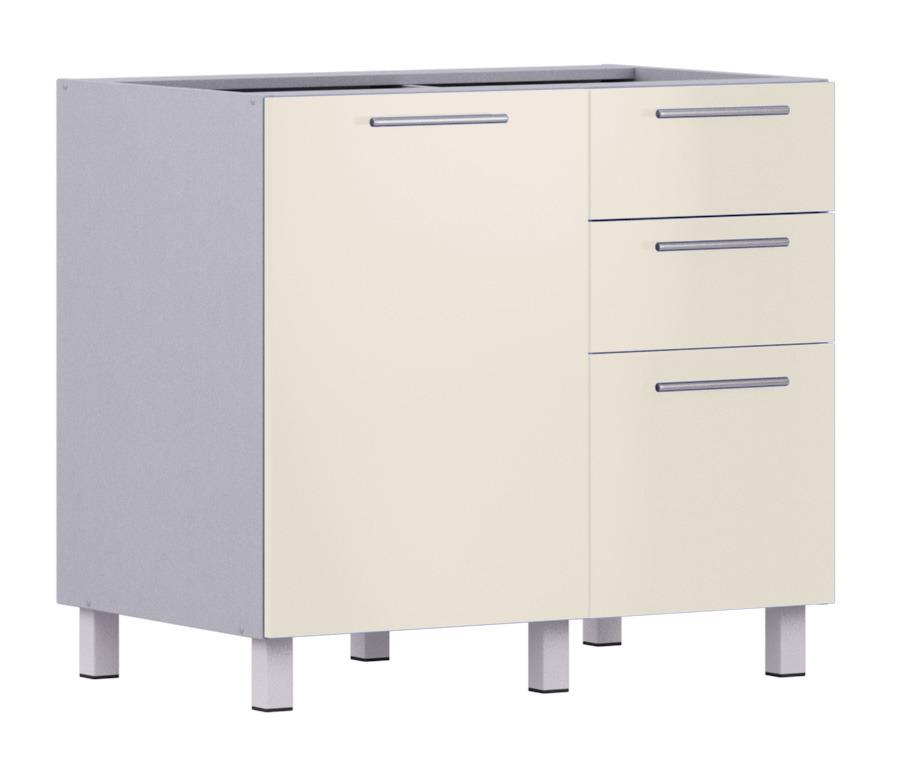 Анна АС-90 стол с ящиками и фасадомМебель для кухни<br>Дополнительно рекомендуем приобрести столешницу.<br><br>Длина мм: 900<br>Высота мм: 820<br>Глубина мм: 563