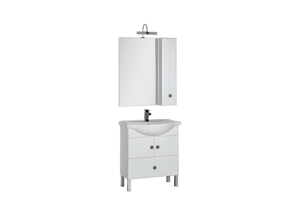 Комплект мебели Aquanet Стайл 75 белый (2 дверцы 1 ящик)Комплекты мебели для ванной<br><br><br>Длина мм: 0<br>Высота мм: 0<br>Глубина мм: 0<br>Цвет: Белый