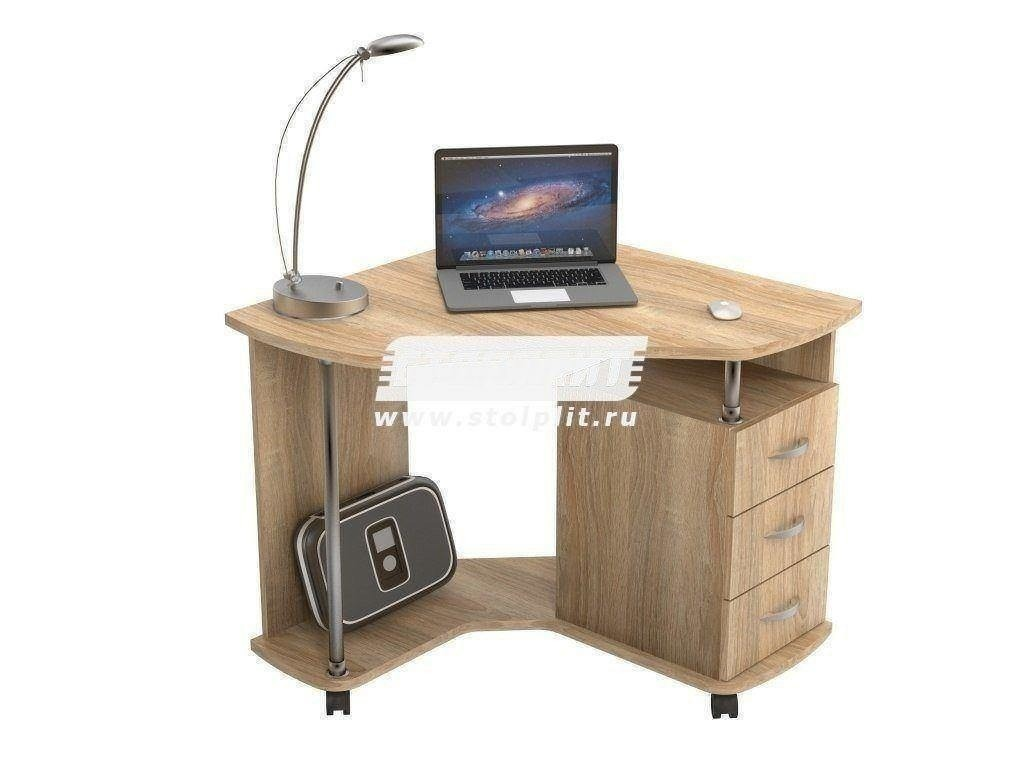 Стол компьютерный КС 2025Компьютерные столы<br><br><br>Длина мм: 880<br>Высота мм: 770<br>Глубина мм: 880<br>Цвет: Дуб Сонома