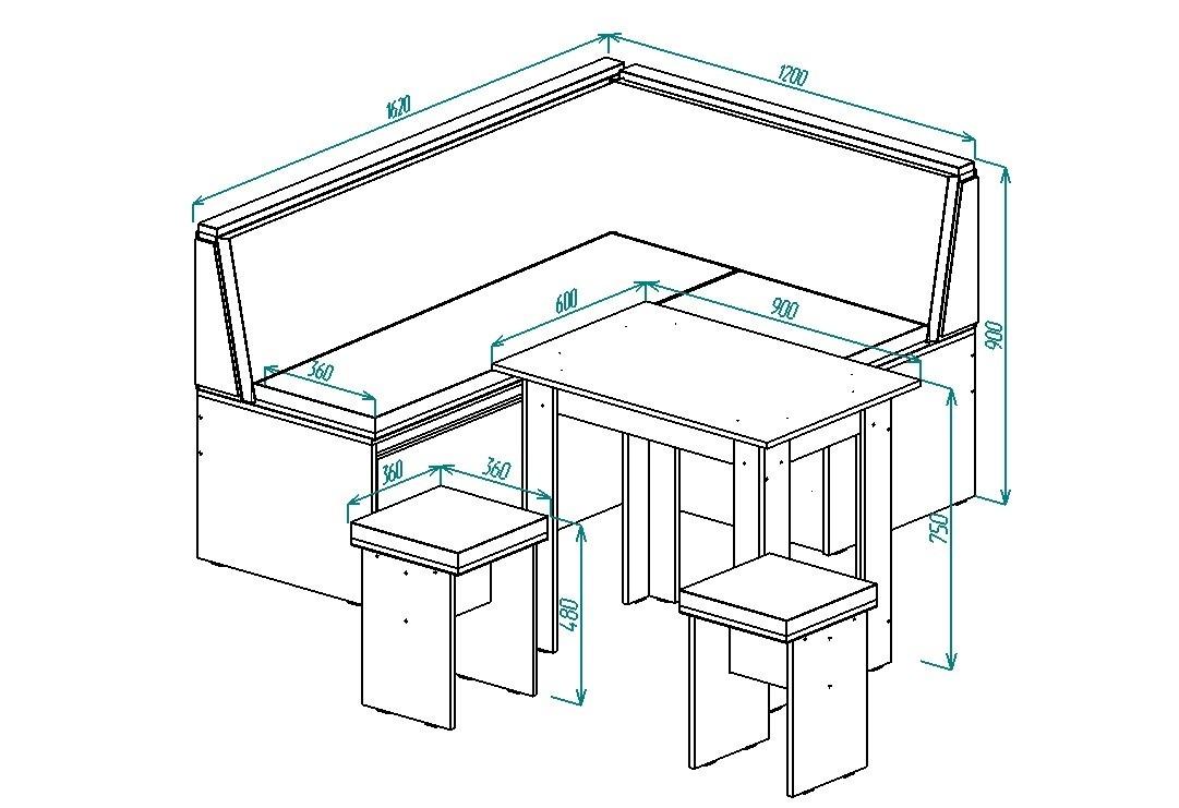 Кухонный уголок Надежда-17 от Столплит