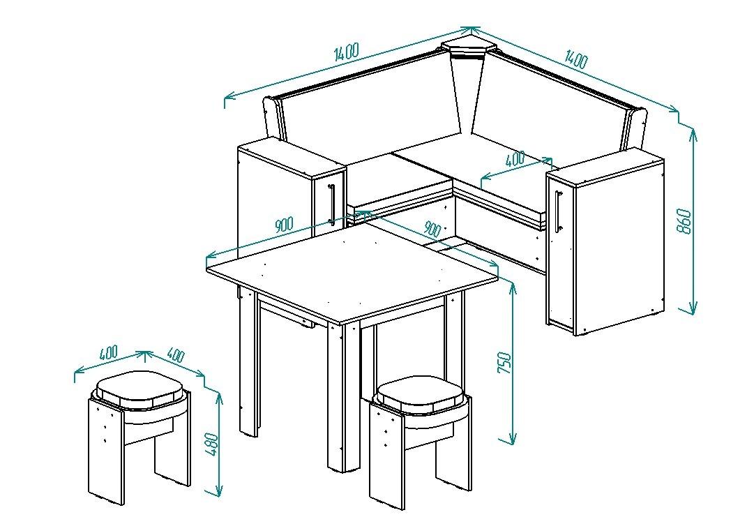 Кухонный уголок Надежда-5 от Столплит
