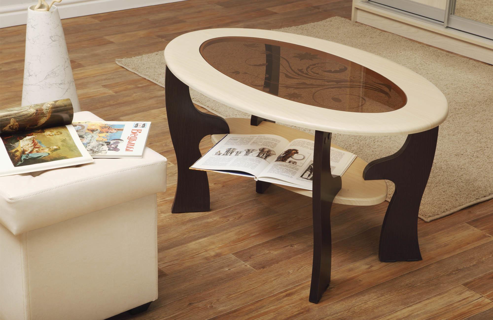 Журнальный стол Маджеста - 4 с пескоструемЖурнальные столики<br><br><br>Длина мм: 1000<br>Высота мм: 522<br>Глубина мм: 600