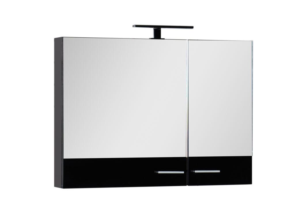 Зеркало Aquanet Нота 90 черныйЗеркало- шкаф для ванной<br><br><br>Длина мм: 0<br>Высота мм: 0<br>Глубина мм: 0<br>Цвет: Чёрный глянец