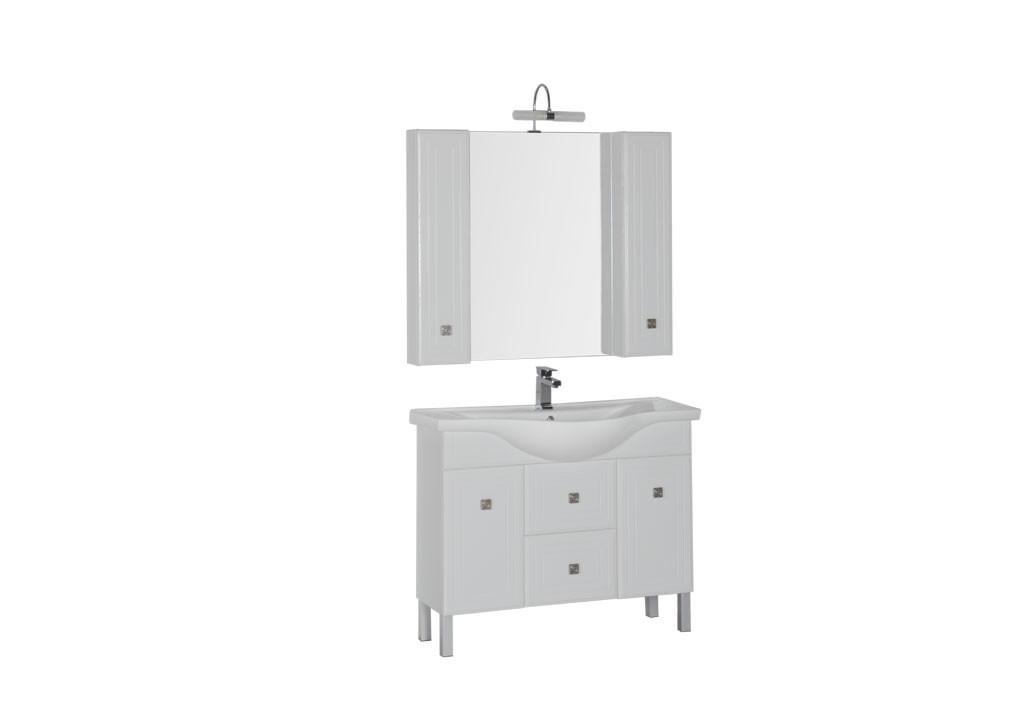 Комплект мебели Aquanet Стайл 105 белый (2 дверцы 2 ящика)Комплекты мебели для ванной<br><br><br>Длина мм: 0<br>Высота мм: 0<br>Глубина мм: 0<br>Цвет: Белый