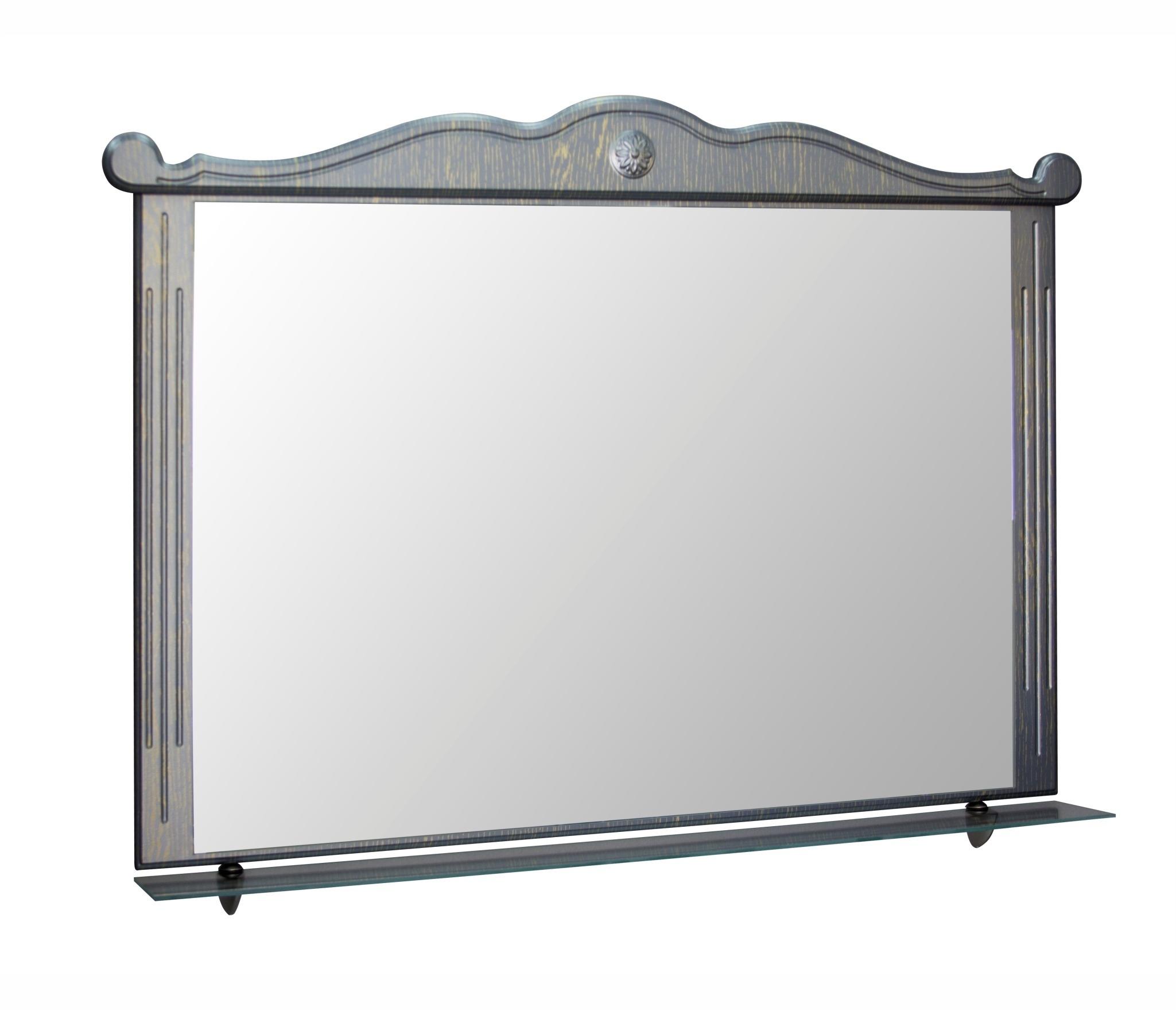 Зеркало ПРОВАНС-105 черный без подсветки (ПВХ) недорого