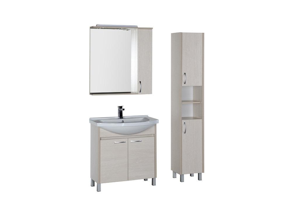 Комплект мебели Aquanet Донна 80Комплекты мебели для ванной<br><br><br>Длина мм: 0<br>Высота мм: 0<br>Глубина мм: 0<br>Цвет: Белый дуб