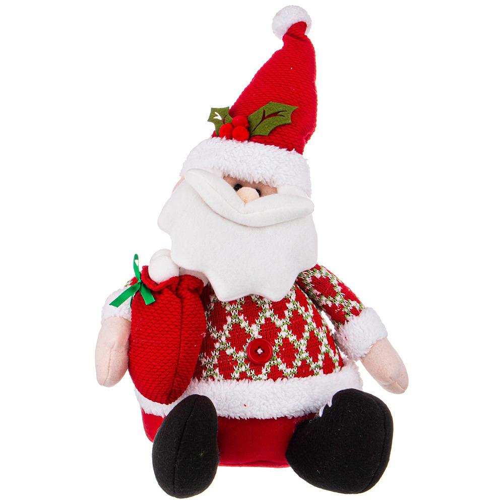 Фото - Фигурка Дед мороз с мешочком подарков фигурка дед мороз m97 дед мороз пластик текстиль красный