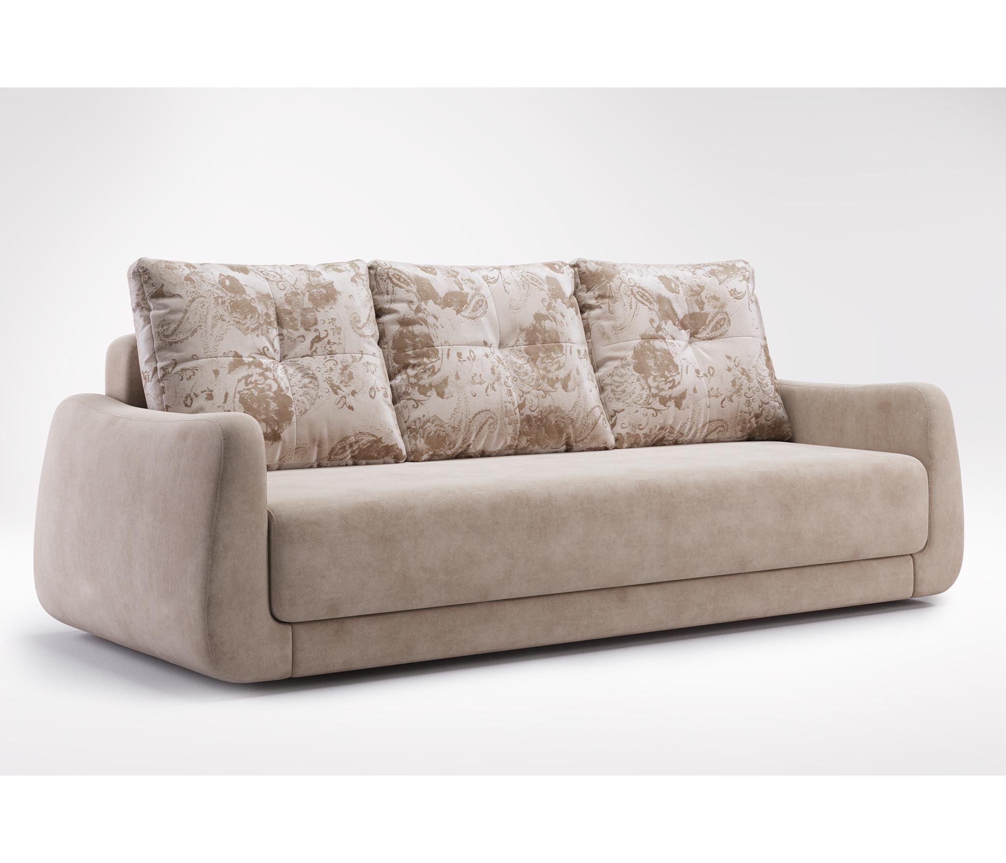 Диван-кровать КамелияМягкая мебель<br><br><br>Длина мм: 2260<br>Высота мм: 950<br>Глубина мм: 1050