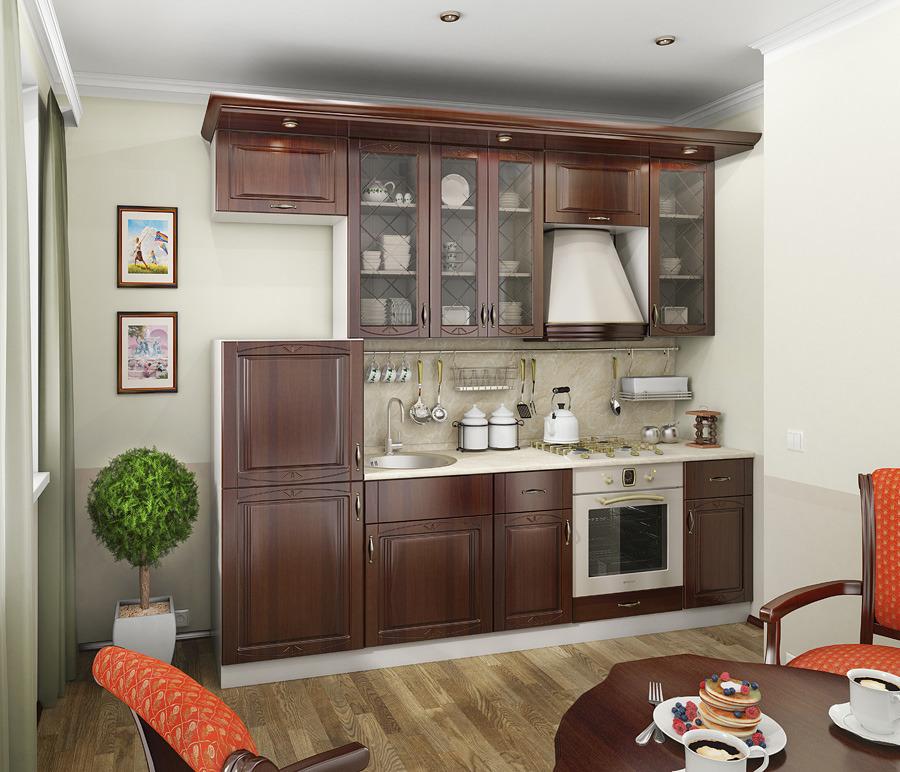 Кухонный гарнитур Регина Песочный/ОрехКухонные гарнитуры<br>Элегантная строгость, классический стиль, продуманность дизайна, сдержанные тона и изысканные линии. Очень красивая кухонная система, которая станет королевой вашего дома, будет радовать хозяйку своей многофункциональностью и удобством. Вполне приемлемая цена, достойное качество. Благодаря своей длине 2,6 метра подойдёт для компактных кухонных комнат.<br><br>Длина мм: 2600<br>Высота мм: 0<br>Глубина мм: 0