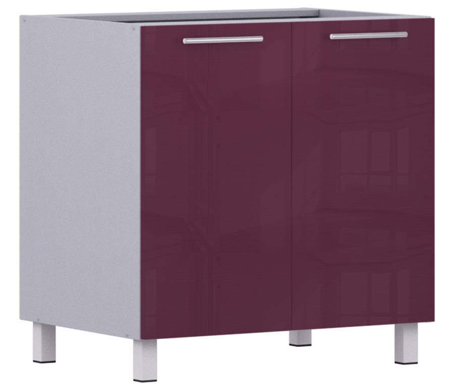 Анна АС-80 стол с 2-мя фасадамиКухня<br><br><br>Длина мм: 800<br>Высота мм: 820<br>Глубина мм: 563