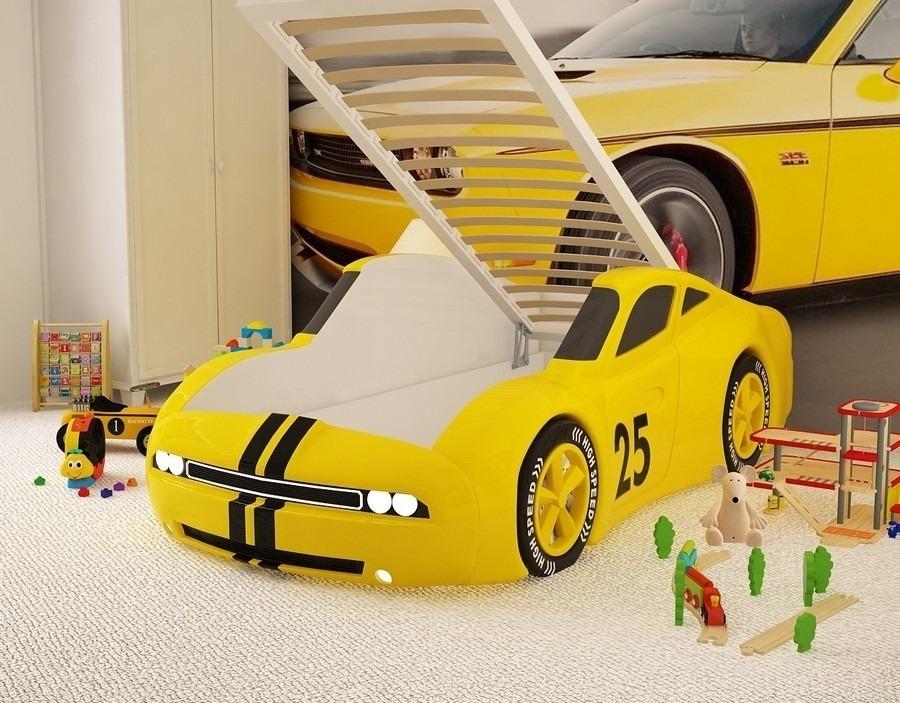 Кровать машина Челенджер без подъемного механизмаКровати - машины<br><br><br>Длина мм: 0<br>Высота мм: 0<br>Глубина мм: 0<br>Цвет: Желтый