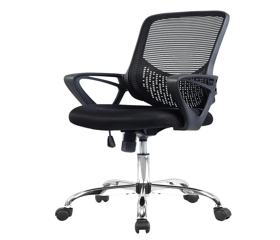 Кресло для персонала HW51435Компьютерные<br><br><br>Длина мм: 600<br>Высота мм: 0<br>Глубина мм: 560<br>Цвет: Черный