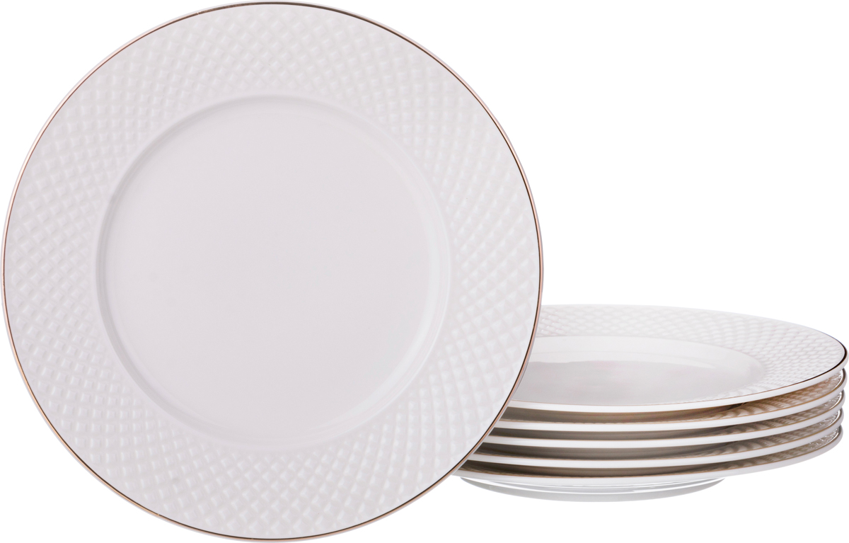 Набор десертных тарелок Диаманд голд 9 см