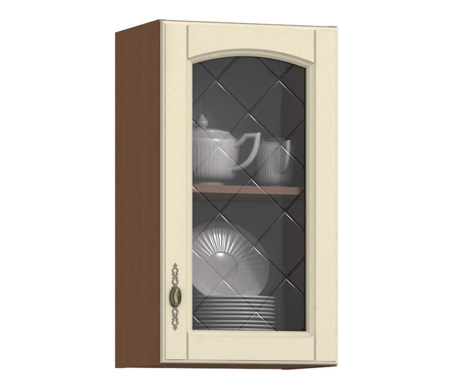 Регина РП-40 полка с витринойГарнитуры<br>Регина РП-40 полка с витриной служит демонстративной составляющей интерьера вашей кухни.<br><br>Длина мм: 400<br>Высота мм: 720<br>Глубина мм: 289