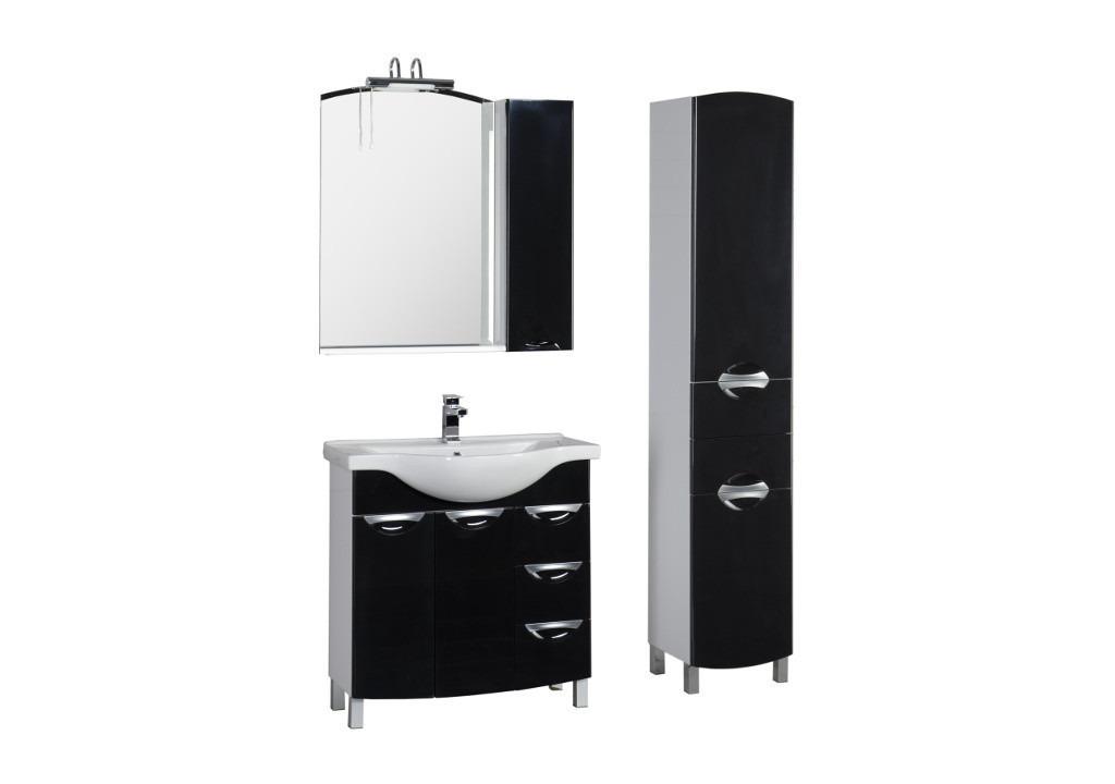 Комплект мебели Aquanet Асти 85 черныйКомплекты мебели для ванной<br><br><br>Длина мм: 0<br>Высота мм: 0<br>Глубина мм: 0<br>Цвет: Черный