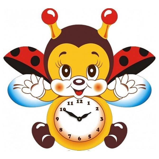 Настенные часы Божья коровка