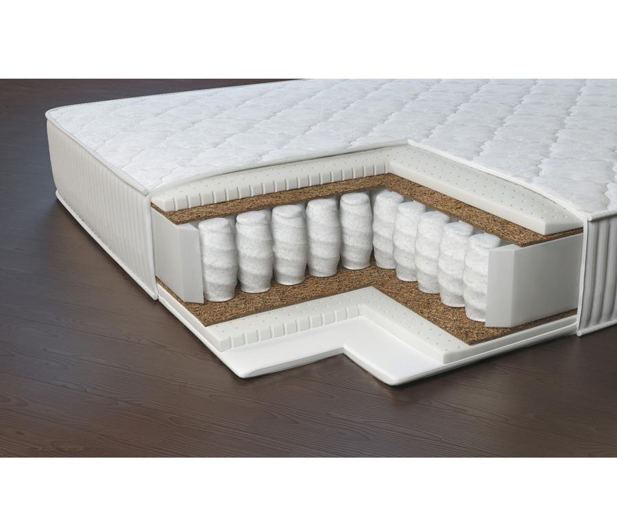 Матрас Престиж-Марсель 1400*1950Мебель для спальни<br>Матрас со средней жесткостью, идеально подходит для тех, кто хочет иметь возможность комфортно спать на независимом блоке, но при этом не хочет переплачивать. Именно сочетание блока независимых пружин и латекса эффективно снимает нагрузку с позвоночника и суставов, предотвращает сдавливание мягких тканей и пережимание кровеносных сосудов, улучшает качество сна. В качестве наполнения используются натуральный латекс и латексированная кокосовая койра. Матрас отличается выраженными анатомическими свойствами.Рекомендовано использование вместе с защитным чехлом Aquastop. &#13;Периметр: усилен ППУ &#13;Высота: 21 &#13;Основа: Блок независимых пружин 256 шт/м2 &#13;Чехол: Чехол - высокопрочный хлопковый жакард итальянской компании Stellini, стеганный на синтепоне &#13;Наполнитель: Натуральный латекс, латексированная кокосовая плита, спанбонд &#13;Нагрузка: 120<br><br>Длина мм: 1400<br>Высота мм: 190<br>Глубина мм: 1950<br>Длина матраса: 1950<br>Ширина матраса: 1400<br>Высота матраса: 210<br>Жесткость матраса: Средняя<br>Тип матраса: блок независимых пружин