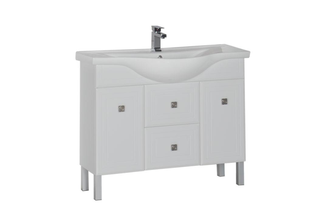 Тумба Aquanet Стайл 105 белый (2 дверцы 2 ящика)Тумбы с раковиной для ванны<br><br><br>Длина мм: 0<br>Высота мм: 0<br>Глубина мм: 0<br>Цвет: Белый Глянец