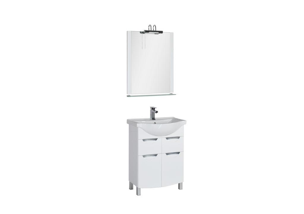 Комплект мебели Aquanet Асти 65 белыйКомплекты мебели для ванной<br><br><br>Длина мм: 0<br>Высота мм: 0<br>Глубина мм: 0<br>Цвет: Белый