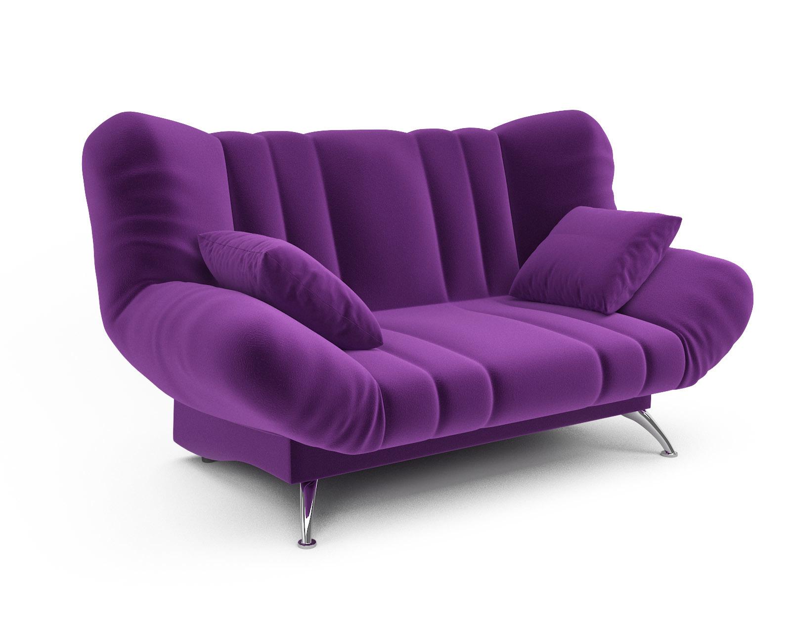 Прямой диван Голд (фиолет)