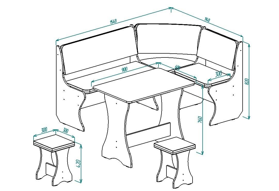 Кухонный уголок Надежда-1 от Столплит
