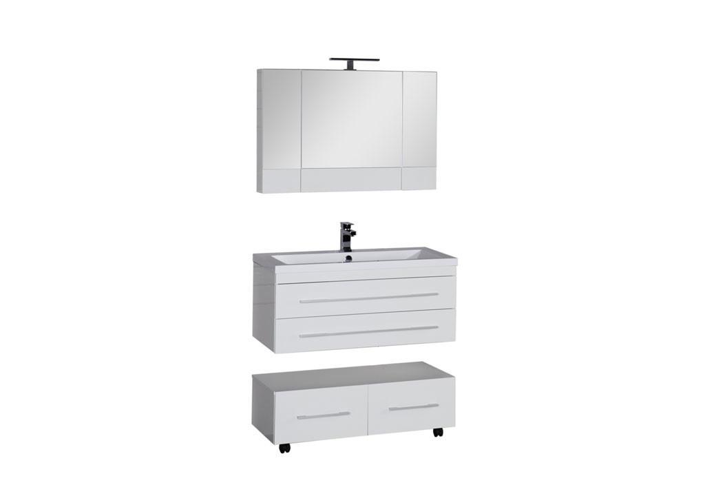 Комплект мебели Aquanet Нота 100 белый (камерино)Комплекты мебели для ванной<br><br><br>Длина мм: 0<br>Высота мм: 0<br>Глубина мм: 0<br>Цвет: Белый
