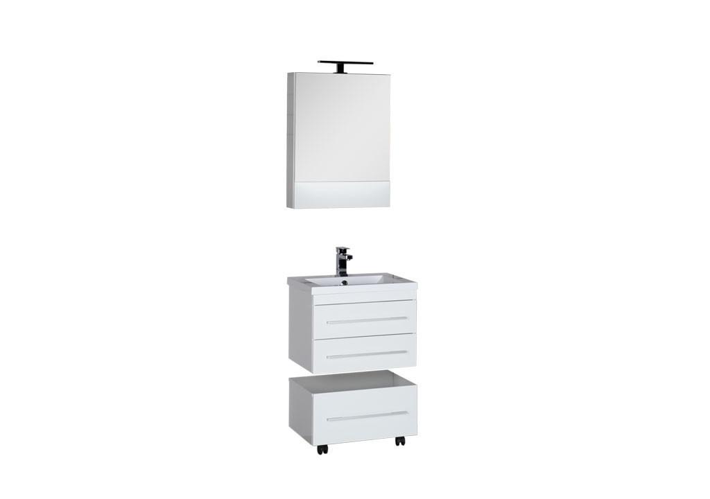 Комплект мебели Aquanet Нота 58 белый (камерино)Комплекты мебели для ванной<br><br><br>Длина мм: 0<br>Высота мм: 0<br>Глубина мм: 0<br>Цвет: Белый
