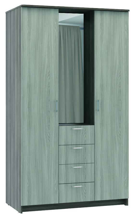 Шкаф шкаф-комод 3-х створчатый без зеркалаШкафы<br><br><br>Длина мм: 1200<br>Высота мм: 2100<br>Глубина мм: 650